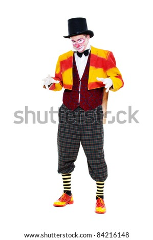portrait of clown. isolated on white background