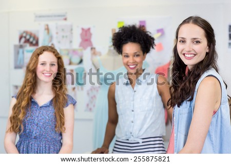 Portrait of confident and attractive female fashion designers - stock photo