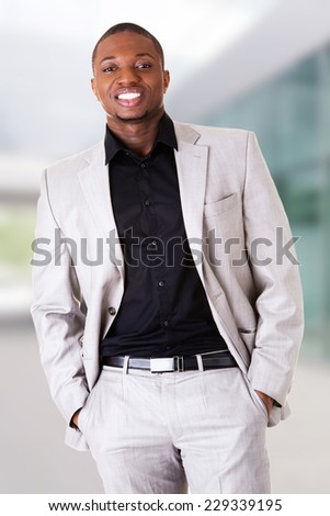Portrait of confident black man - stock photo
