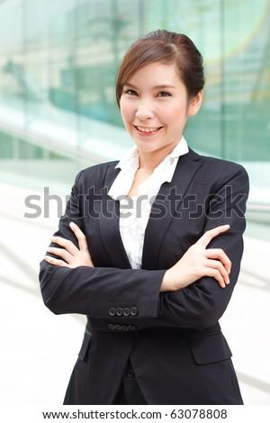 Portrait of confident business woman - stock photo