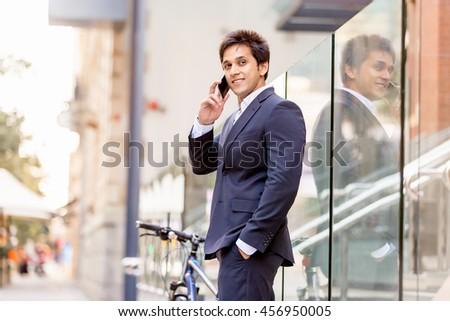 Portrait of confident businessman outdoors
