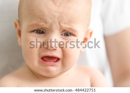 Portrait of crying baby