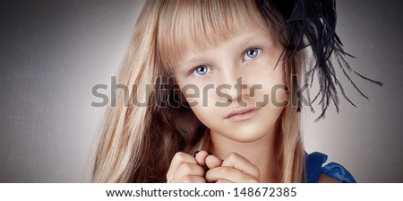 Portrait of cute little child girl  - stock photo