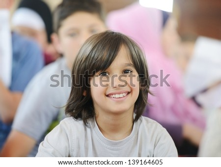 Portrait of cute smiling kid