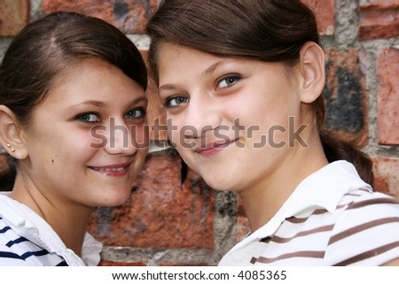 Portrait of cute smiling twins