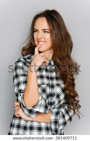 Cute Teenagers portrait cute teen girl texting emotional stock photo 381870391