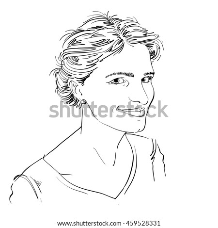 Portrait of delicate good-looking flirting woman, black and white drawing. Emotional expressions idea image.  Sexy model.