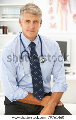 Portrait of doctor - stock photo