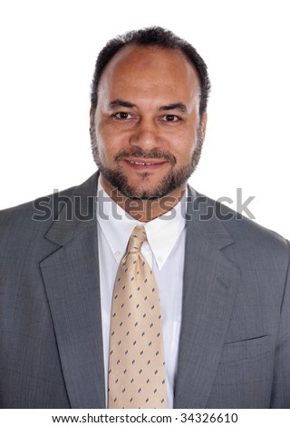 portrait of egyptian businessman with suiot in his fourties - stock photo