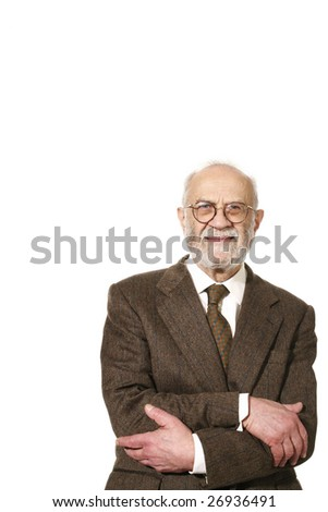portrait of elderly man