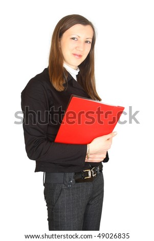 Portrait of elegant businesswoman. Isolated
