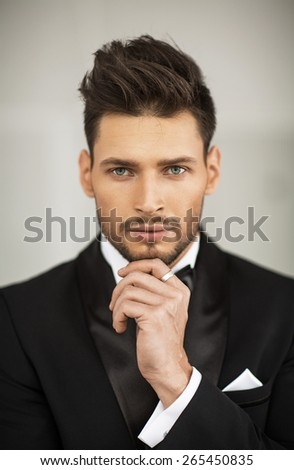 Portrait of elegant man - stock photo