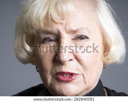 Portrait of elegant senior woman  - stock photo