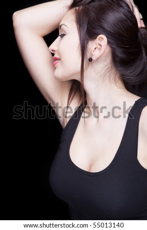 Portrait of elegant sexy sensual young woman