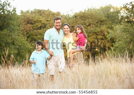 Portrait Of Family In Park