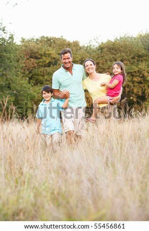 Portrait Of Family In Park - stock photo