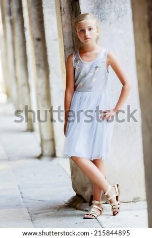 Portrait of fashion girl - stock photo