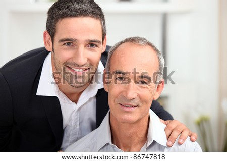 portrait of father and son