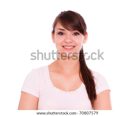 Portrait of female student going to school