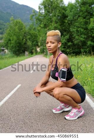 Portrait of fitness woman - stock photo