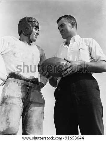 Portrait of football players - stock photo