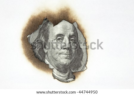portrait of Franklin - stock photo