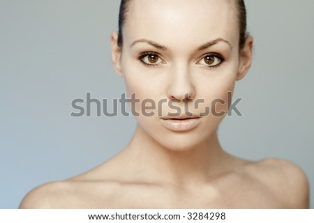 Portrait of Fresh and Beautiful sexy young woman