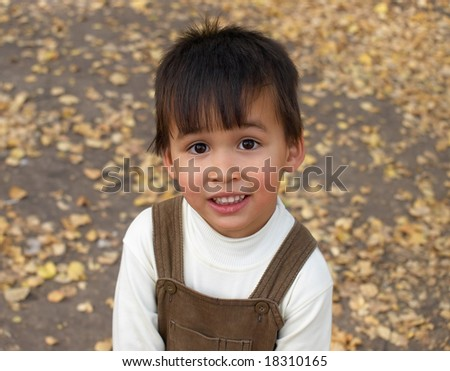 Portrait of funny little boy