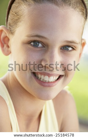 Portrait Of Girl Looking Thoughtful - stock photo