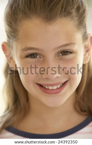 Portrait Of Girl Smiling - stock photo