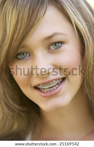 Portrait Of Girl Smiling - stock photo