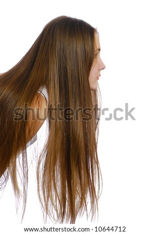 portrait of girls with long hair
