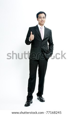 Portrait of hand showing goodluck sign against white background - stock photo