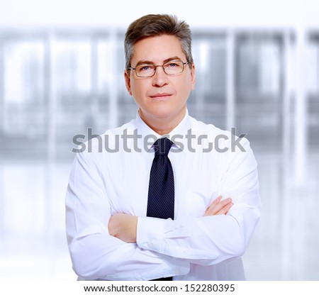 Portrait of handsome business man. - stock photo