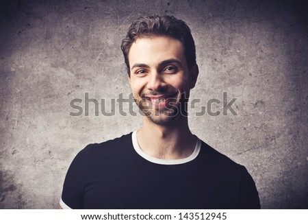 portrait of handsome man