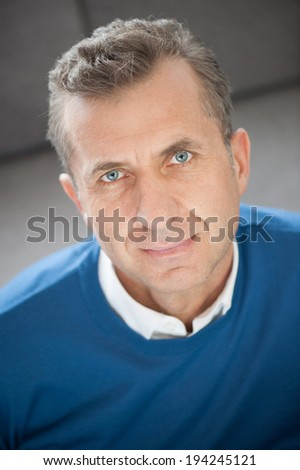 Portrait of handsome mature man - vertical