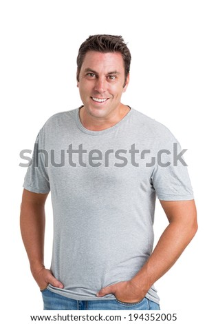 Portrait of handsome middle-aged man - stock photo