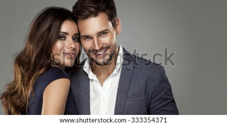 Portrait of happy couple  - stock photo