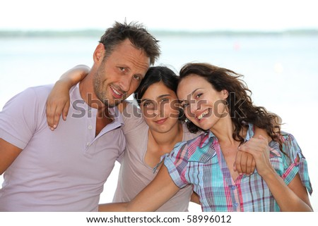 Portrait of happy family during summer holidays
