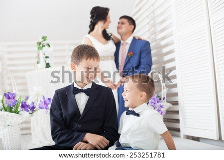 Portrait Of Happy Family In Countryside Smiling To Camera - stock photo