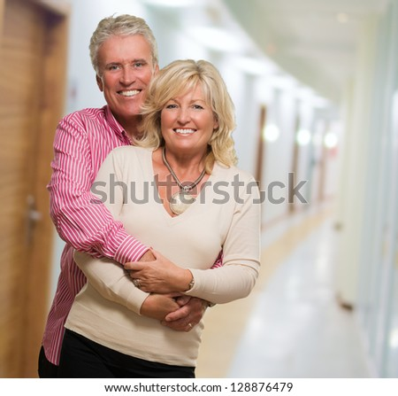 Portrait Of Happy Mature Couple, indoor - stock photo