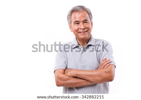portrait of happy smiling man - stock photo