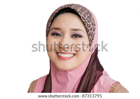 portrait of happy young woman - stock photo