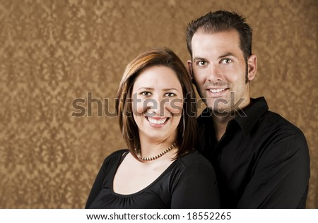 Portrait of Hispanic woman and her boyfriend - stock photo