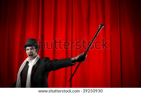 portrait of illusionist - stock photo