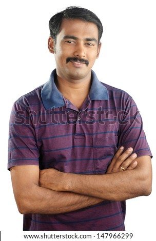 Portrait of Indian Young Man - stock photo