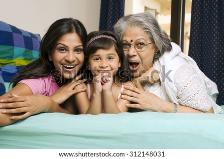 Portrait of Joint Family - stock photo