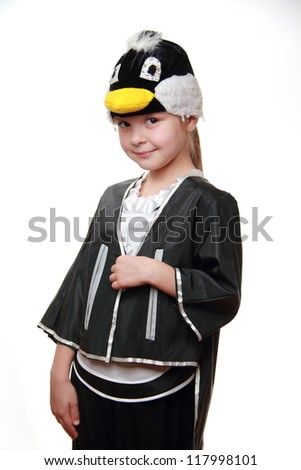 Portrait of kid from costume party - stock photo