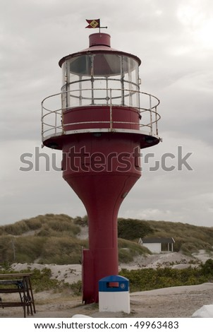 portrait of lighthouse in heavy weather
