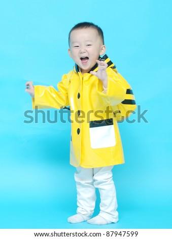 Portrait of  little Asian  boy - stock photo